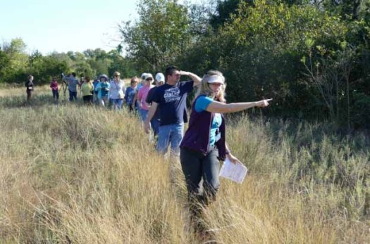 Leading Educational Hike at Spring Creek Forest Preserve